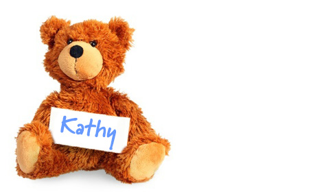 Kathy's teddy bear