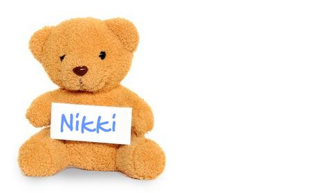Nikki's teddy bear