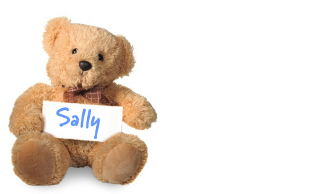 Sally's teddy bear