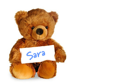Sara's teddy bear
